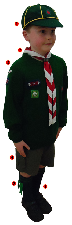 Wolf Cub Uniform and Badge Locations